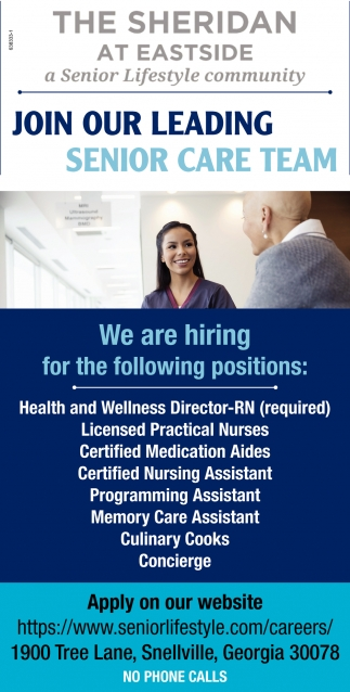 Join Our Leading Senior Care Team