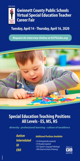 Virtual Special Education Teacher Career Fair