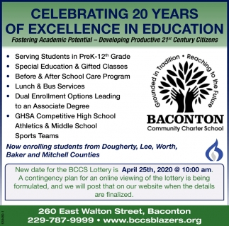 20 Years of Excellence in Education