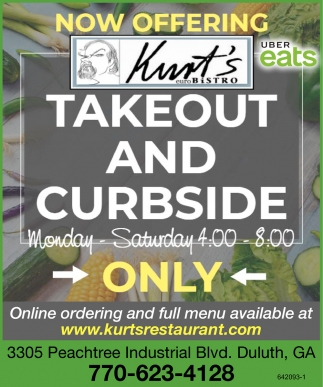 Takeout and Curbside