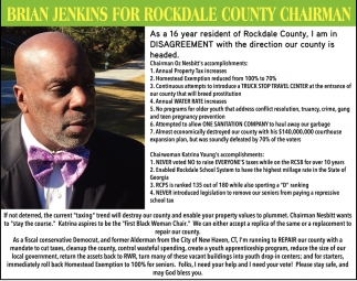 Brian Jenkins For Rockdale County Chairman