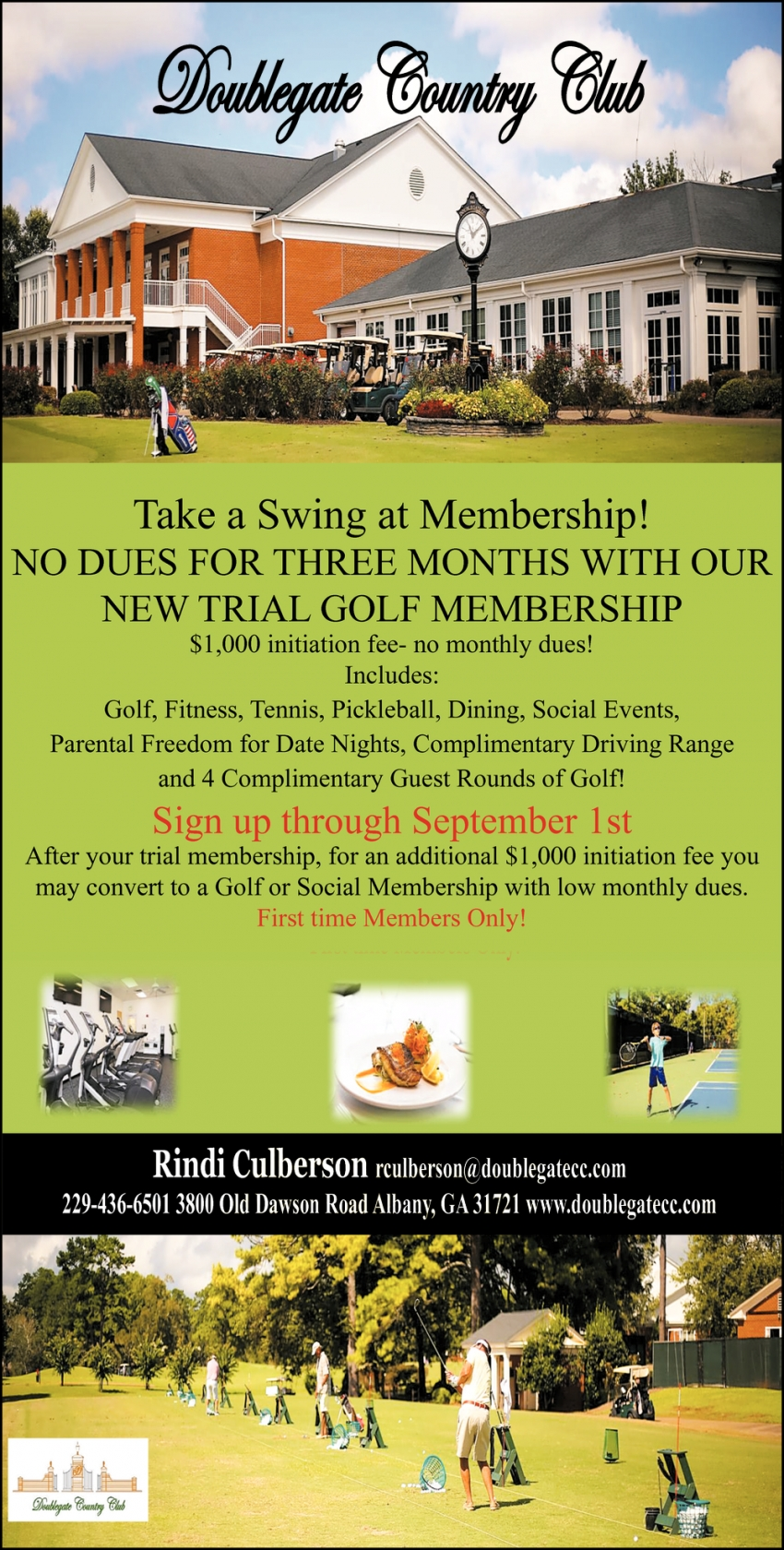 Take a Swing at Membership!