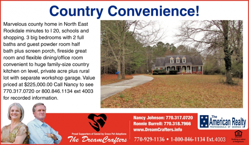 Country Convenience!