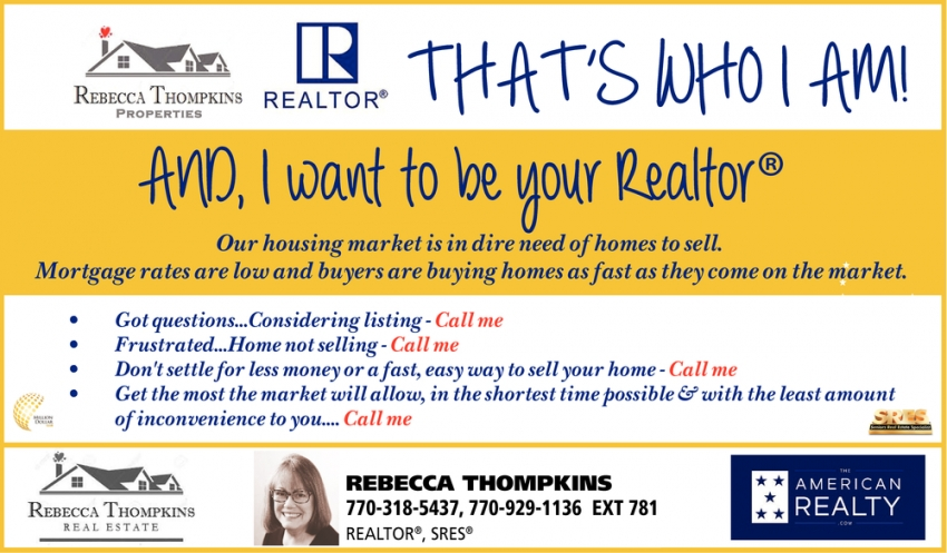 I Want To Be Your Realtor