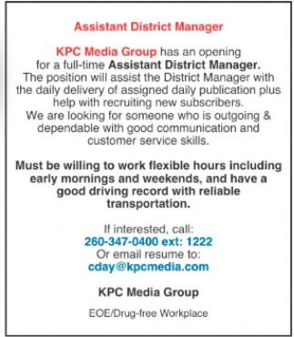 Assistant District Manager