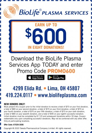 Download The BioLife Plasma Services App Today And Enter Promo Code Promo600