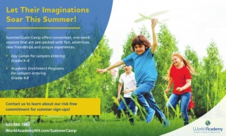 Let Their Imaginations Soar This Summer!