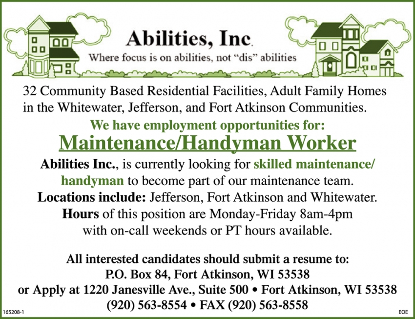 Maintenance / Handyman Worker
