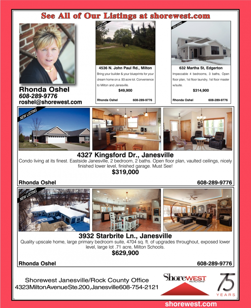 See All of Our Listings at Shorewest.com