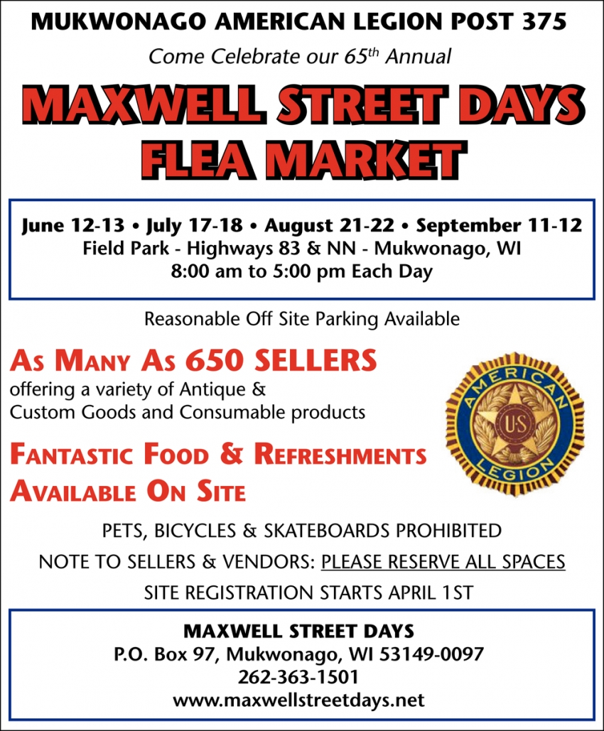 Come Celebrate Our 65th Annual Maxwell Street Days Flea Market