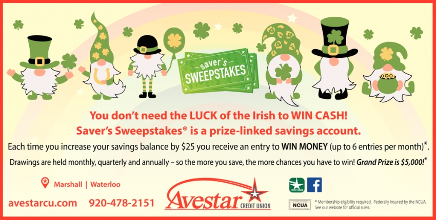 You Don't Need the Luck of the Irish to Win Cash!