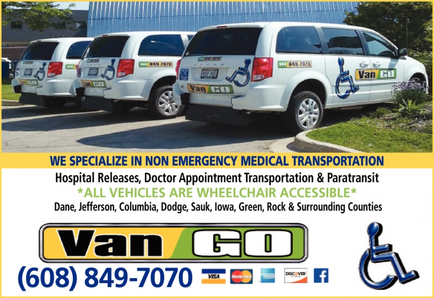 We Specialize in Non Emergency Medical Transporation