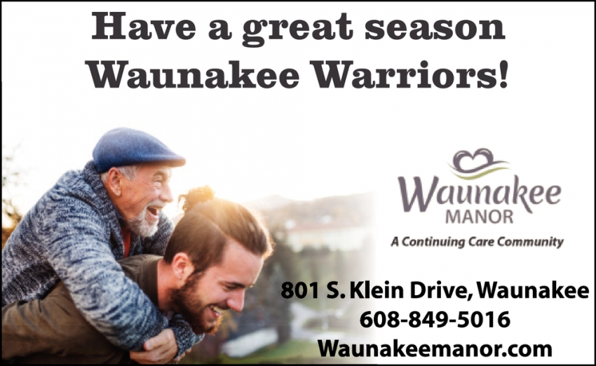 Have a Great Season Waunakee Warriors!