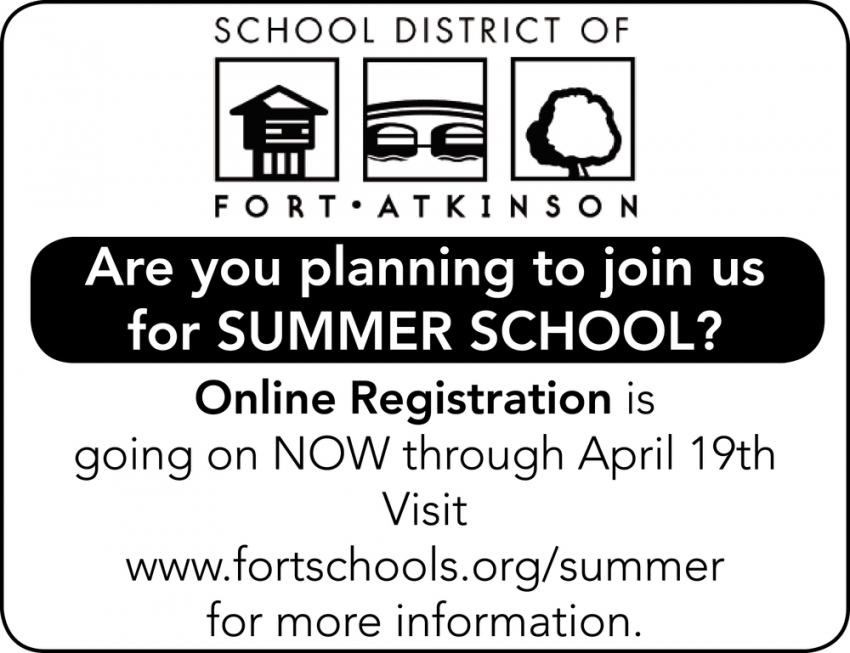 Are You Planning to Join Us for Summer School?