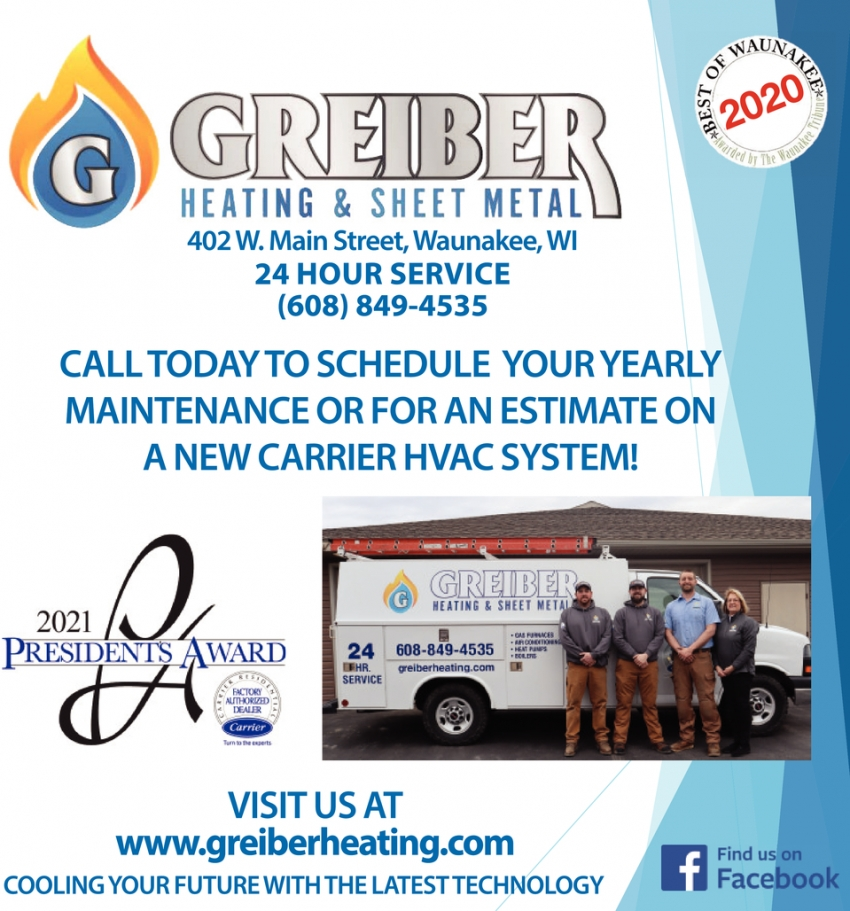 Call Today to Schedule Your Yearly Maintenance or for An Estimate On a New Carrier HVAC System!