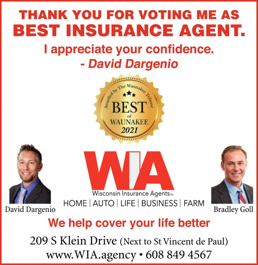 Thank You for Voting Me as Best Insurance Agent