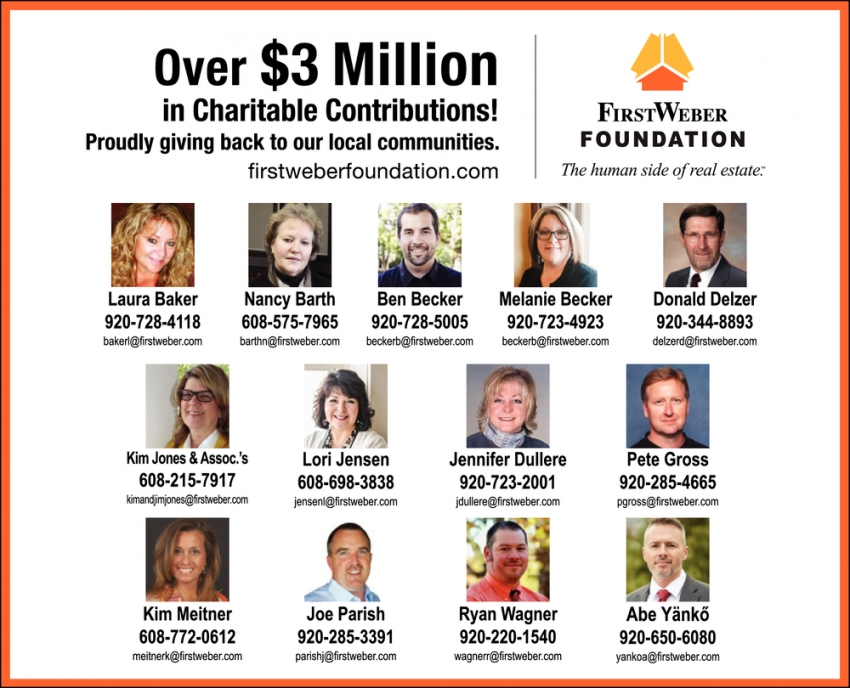 Over $3 Million in Charitable Contributions!