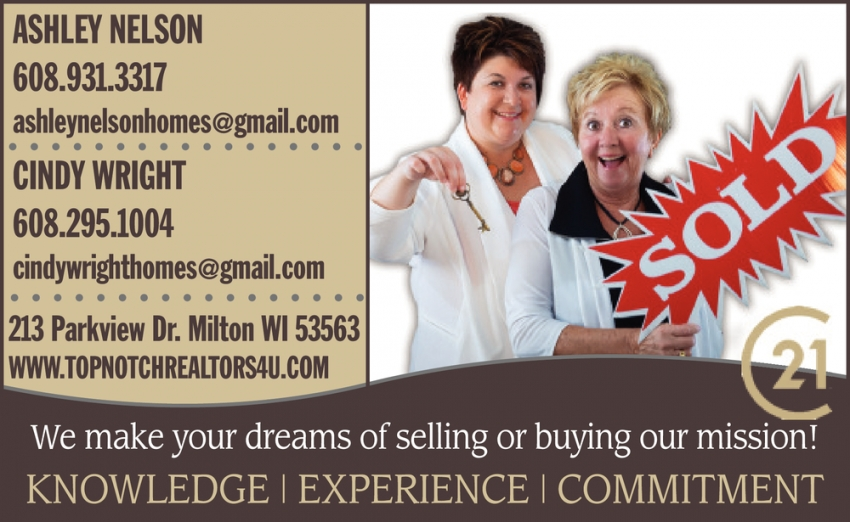 We Make Your Dreams of Selling or Buying Our Mission!