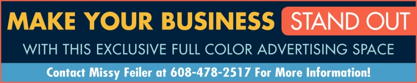 Make Your Business Stand Out with this Exclusive Full Color Advertising Space