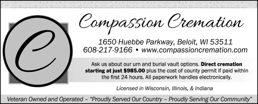 Ask Us About Our Urn and Burial Vault Options