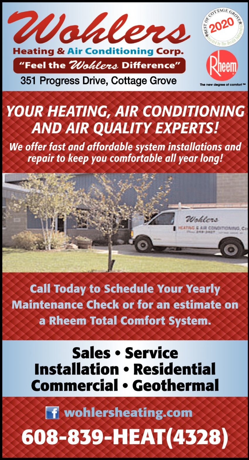 Your Heating, Air Conditioning and Air Quality Experts!
