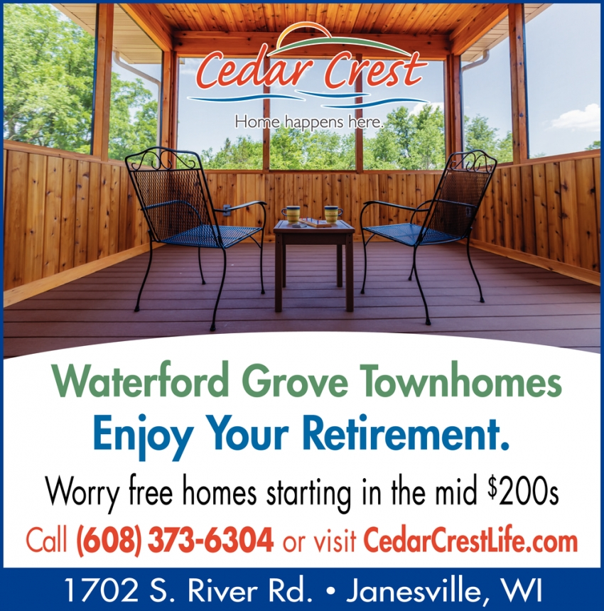 Waterford Grove Townhomes Enjoy Your Retirement
