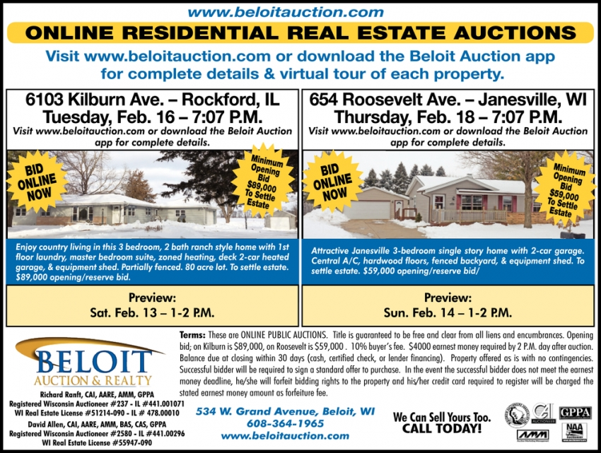 Online Residential Real Estate Auctions