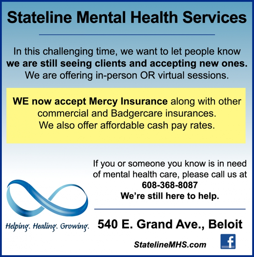 We Now Accept Mercy Insurance