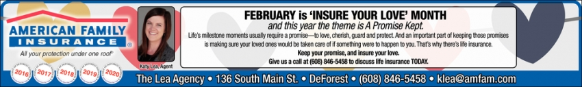 February is 'Insure Your Love' Month