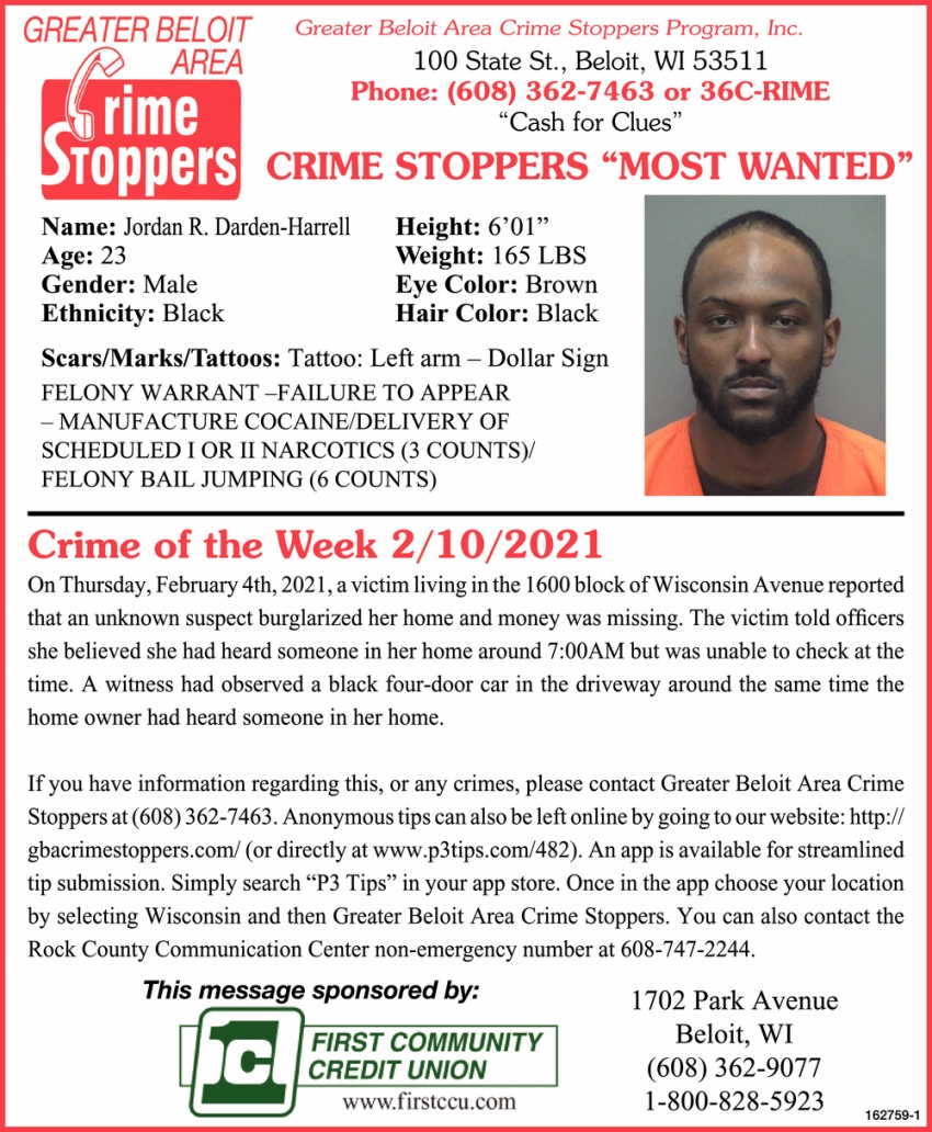Crime of the Week 2/10/2021