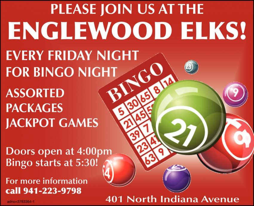 Bingo, Englewood Elks Lodge, Englewood, FL