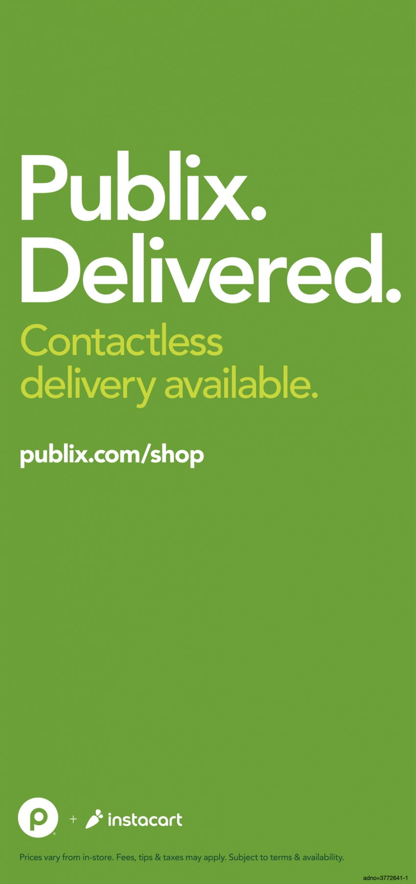 Contactless Delivery Available