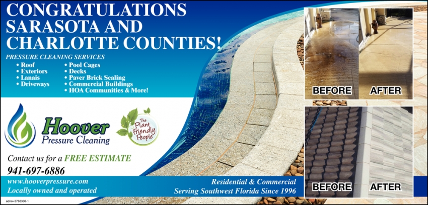 Congratulations Sarasota and Charlotte Counties