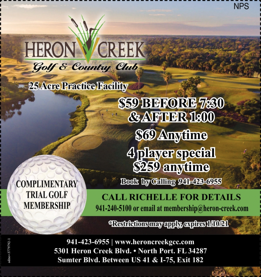 Complimentary Trial Golf Membership