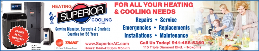 For All Your Heating & Cooling Needs