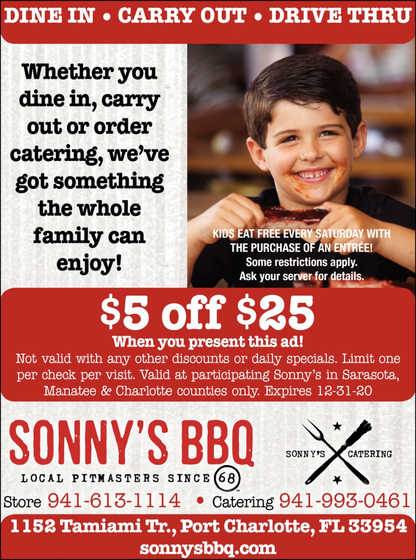 Whether You Dine In, carry Out or Order Catering, We've Got Something the Whole Family Can Enjoy!