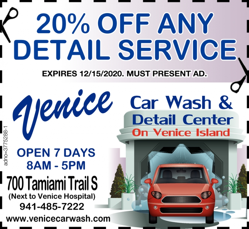 20% OFF Any Detail Service