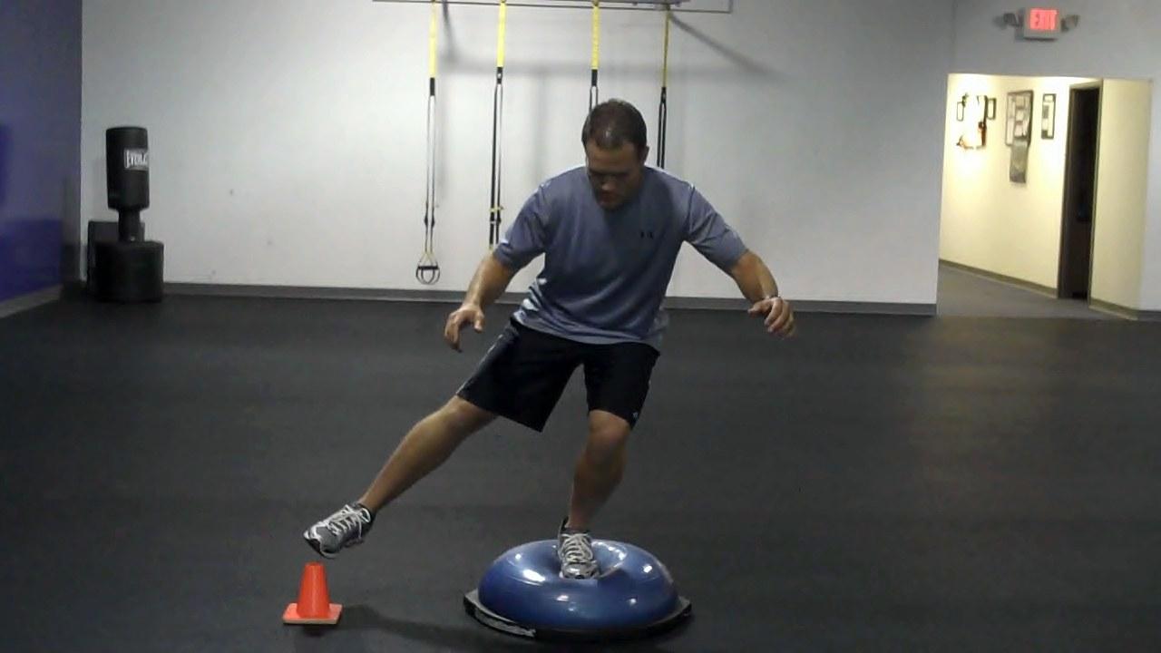 Functionally Fit: BOSU Ball Single-Leg Lateral Reach - PFP ...