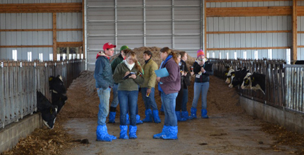 Students at Murcrest Farms