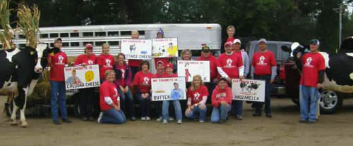 Wozahwa dairy promotion volunteers