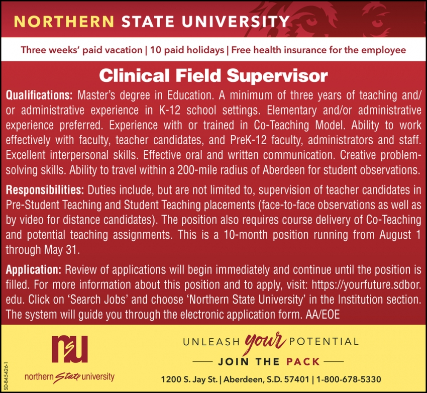 Clinical Field Supervisor