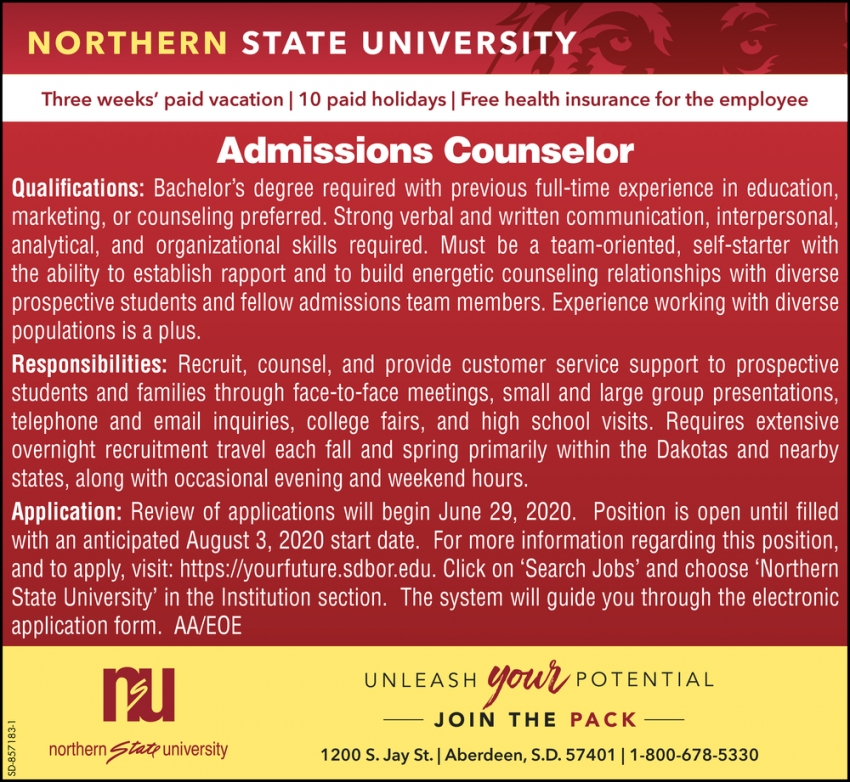 Admissions Counselor