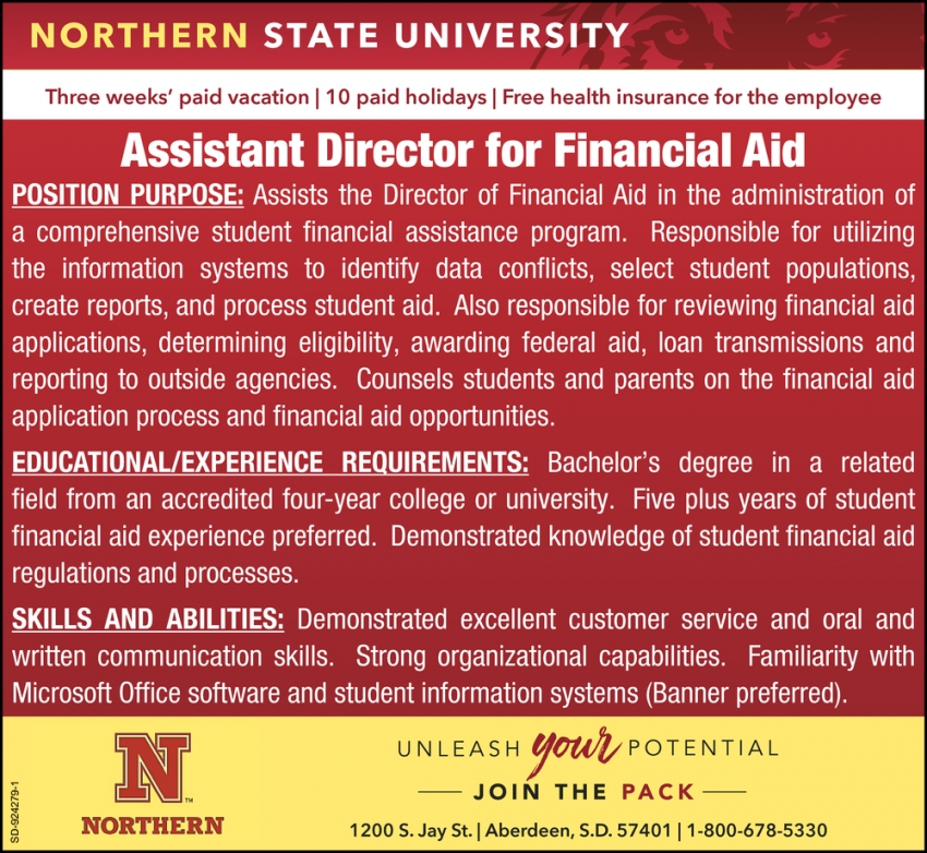 Assistant Director for Financial Aid