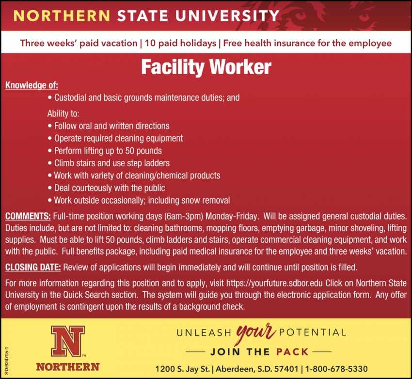 Facility Worker