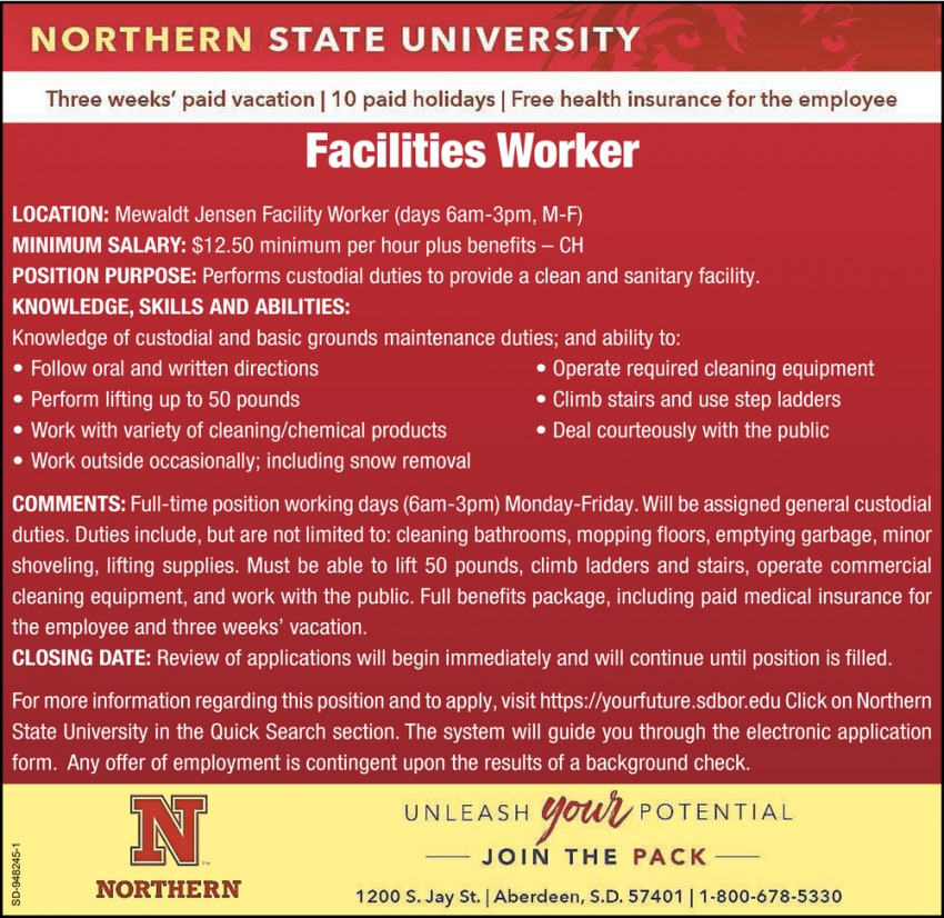Facilities Worker