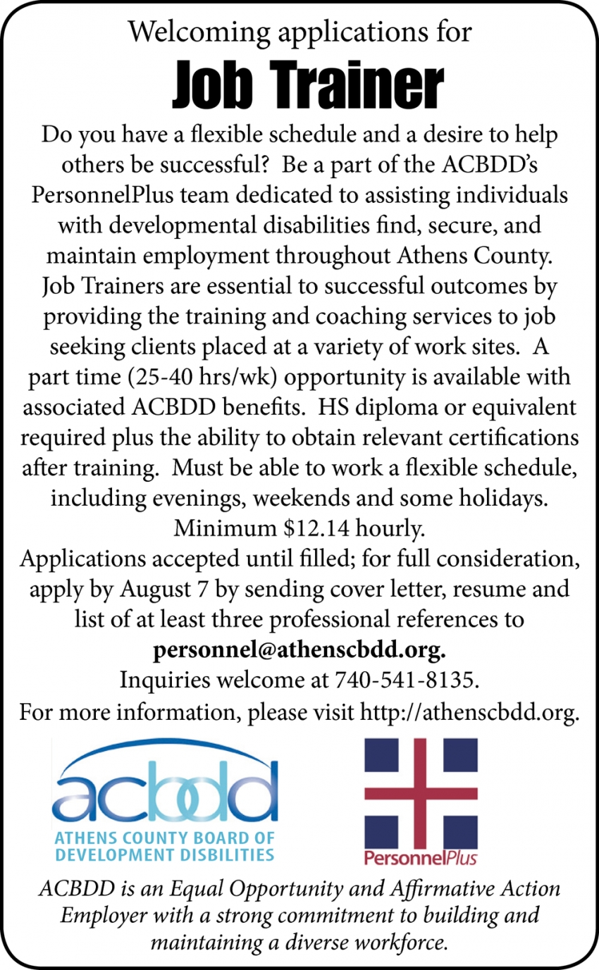 Job Trainer Needed