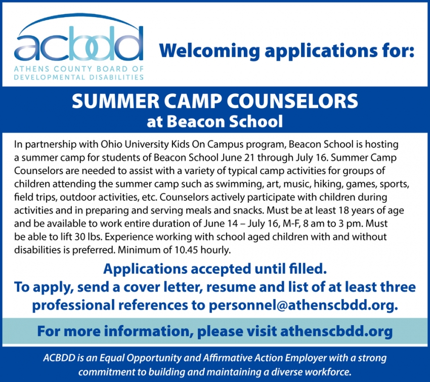Summer Camps Counselors