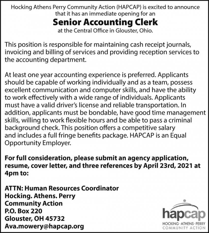 Senior Accounting Clerk