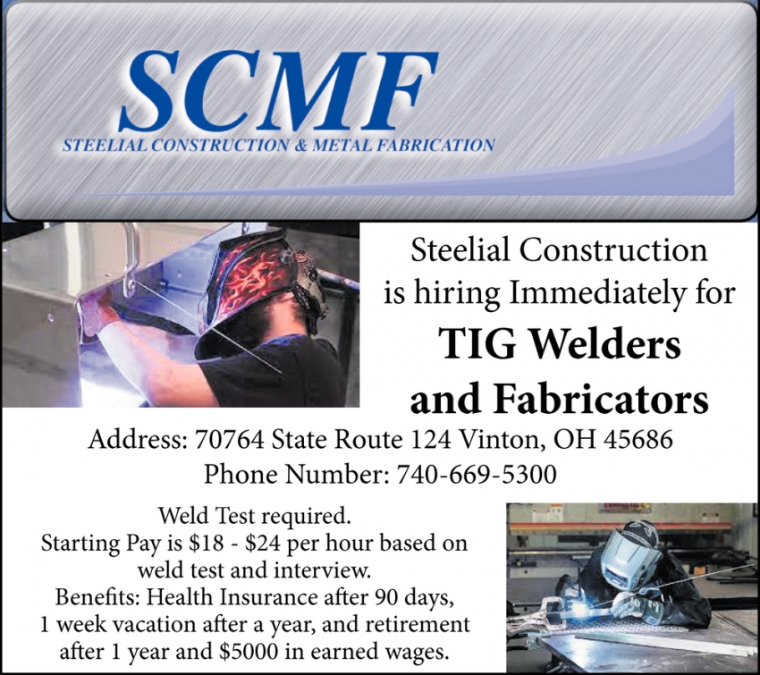 TIG Welders And Fabricators