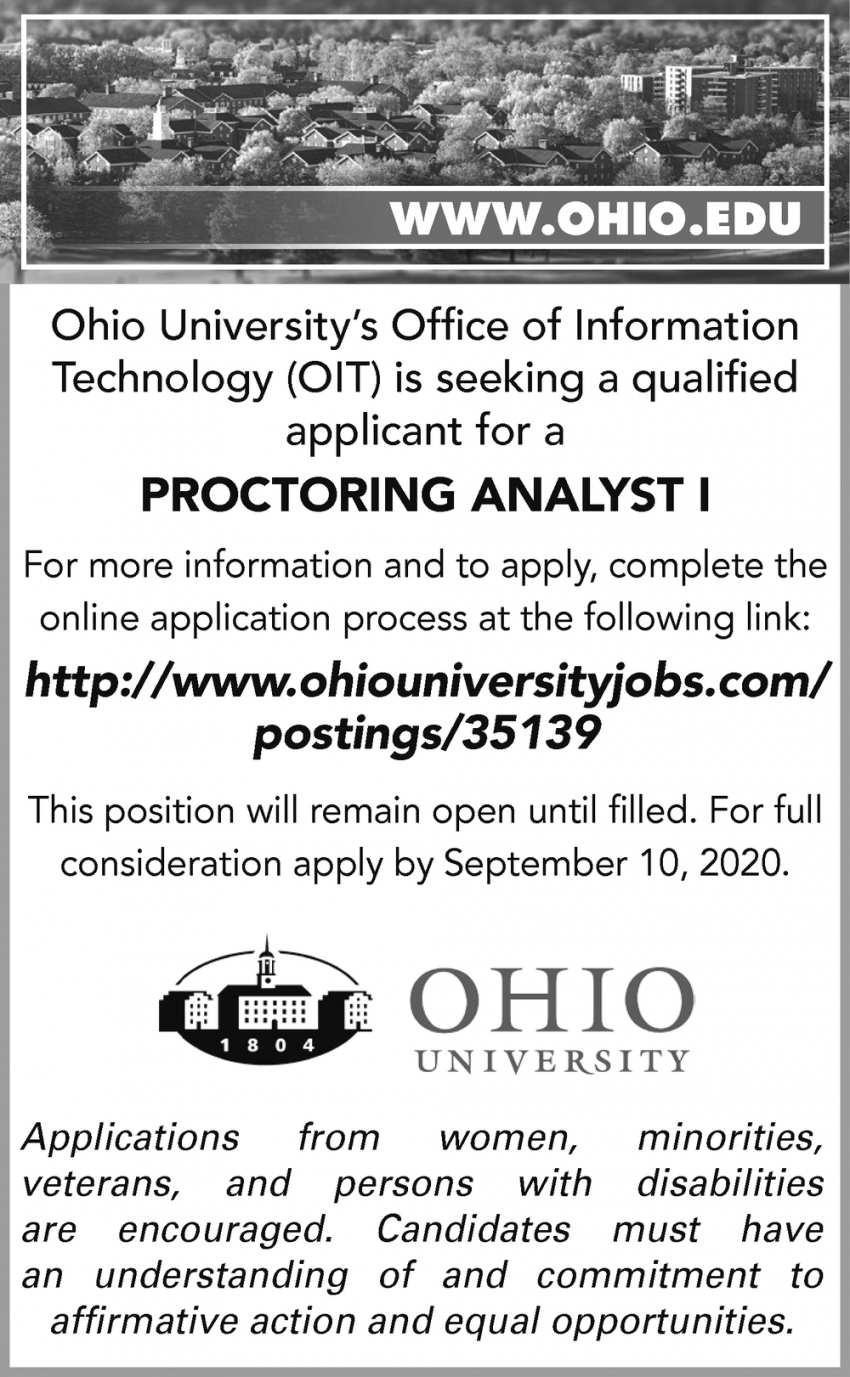 Proctoring Analyst I Needed
